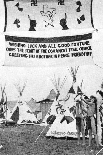 Comanche Trail Council Indian Camp, 1937 National Scout Jamboree
